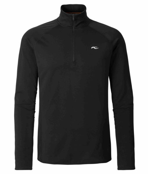 kjus ski midlayer trace zip black