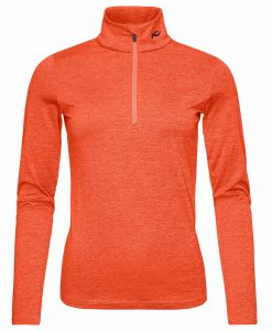 kjus women ski midlayer feel orange