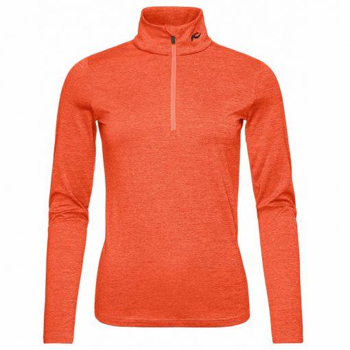 kjus women ski midlayer feel orange