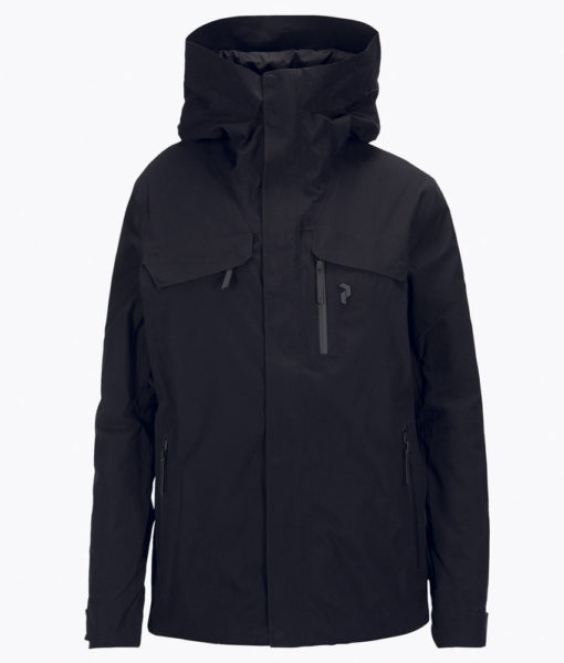 Mens Spokane Peak Performance Ski Jacket Black