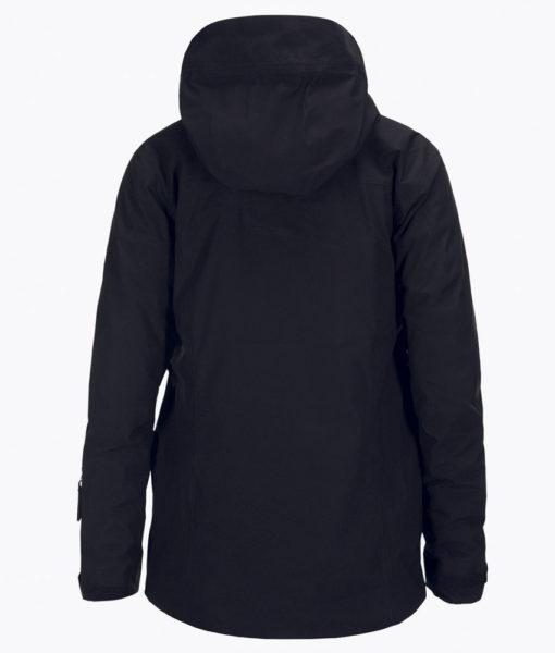 Mens Spokane Peak Performance Ski Jacket Black back