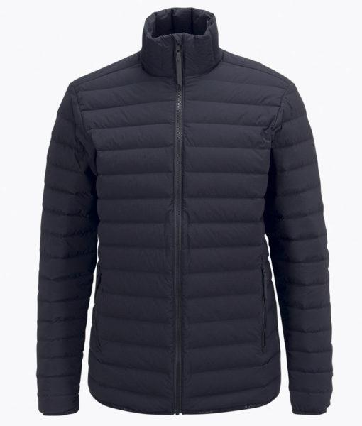 Mens Stretch Peak Down Ski Jacket Black