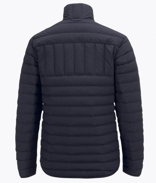 Mens Stretch Peak Down Black Ski Jacket