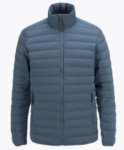 Mens Stretch Peak Down Ski Jacket Blue