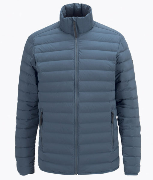 Mens Stretch Peak Down Ski Jacket Blue