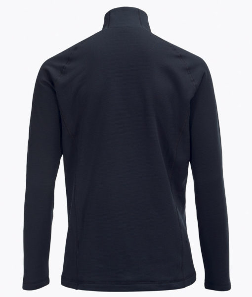 Mens Waitara Zip Ski MidLayer Black Back