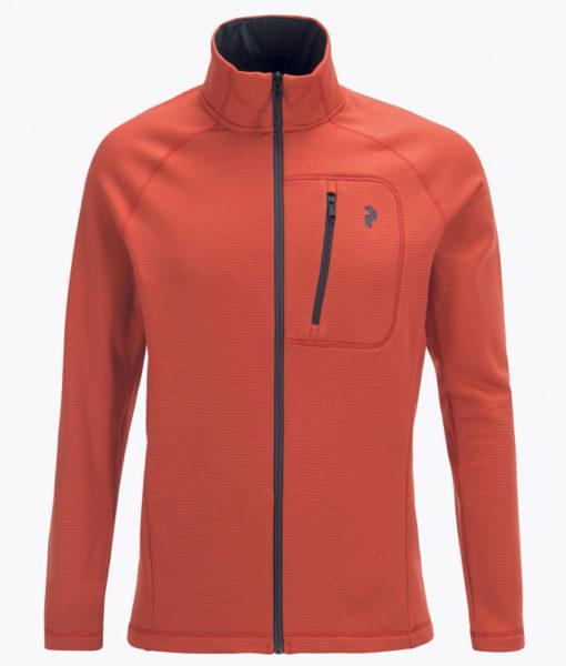 Mens Waitara Zip Ski Mid Layer Orange