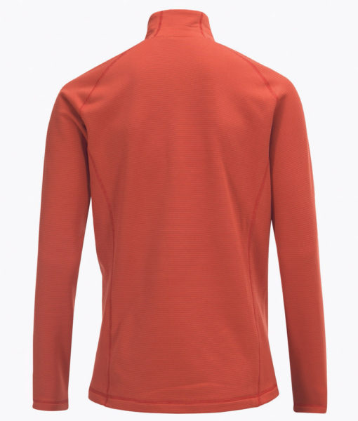 Mens Waitara Zip Ski Mid Layer Orange Back