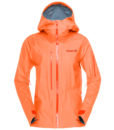 Womens Lofted Gore Tex Active ski Jacket orange