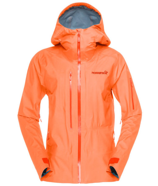 Womens Lofted Gore Tex Active ski Jacket orange