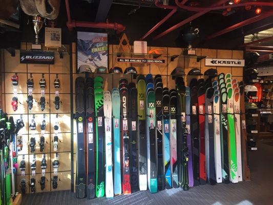 aspen ski shop ski wall