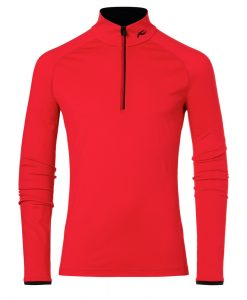 Kjus Mens Feel ski half Zip red