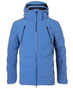 downforce kjus mens ski jacket blue