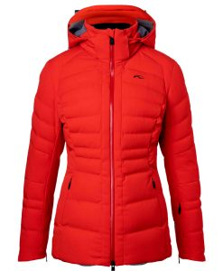 kjus womens duana red ski jacket