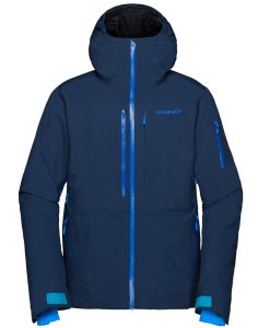 Norrona mens insulated ski jacket Lofoten blue