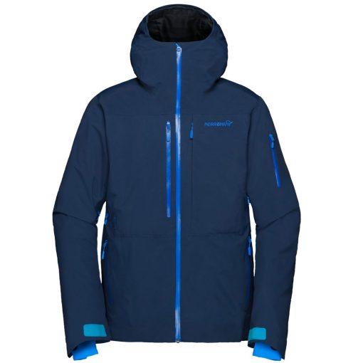 Norrona mens insulated ski jacket Lofoten blue