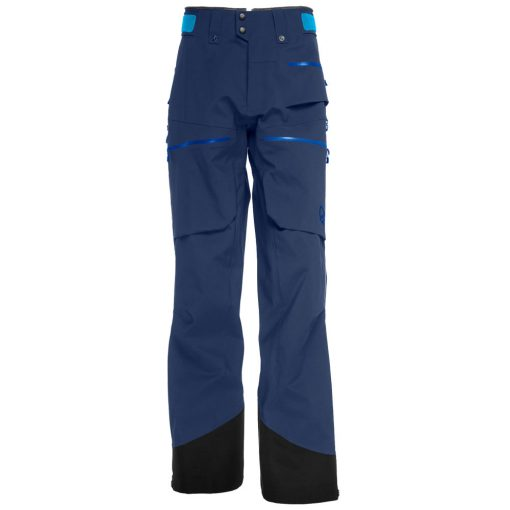 Norrona mens insulated ski pants Lofoten blue