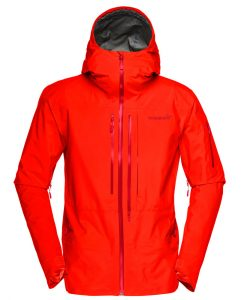 Norrona mens ski jacket Lofoten Red
