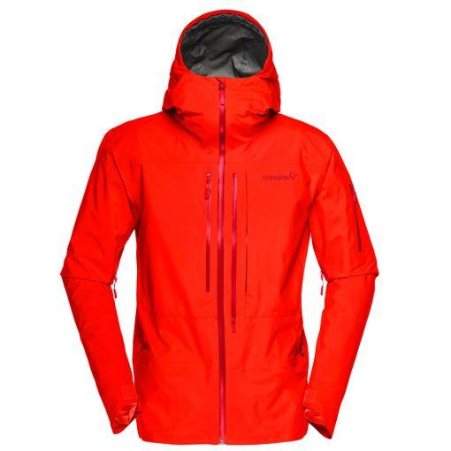 Norrona mens ski jacket Lofoten Red