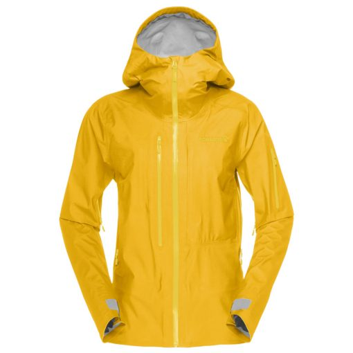 Norrona women ski jacket Lofoten yellow