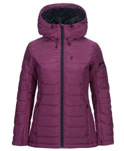 Peak Performance womens ski jacket blackburn cherry
