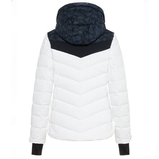 J lindeberg russel womens down ski coat white