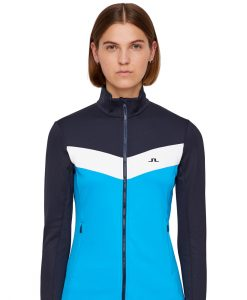 J lindeberg russel womens ski fleece blue
