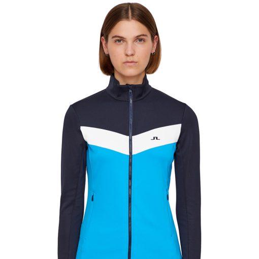 J lindeberg russel womens ski fleece blue