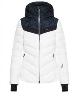 J lindeberg russel womens white down ski coat