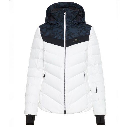 J lindeberg russel womens white down ski coat