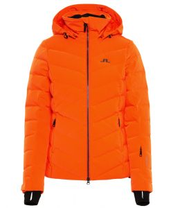 J lindeberg watson womens orange ski jacket