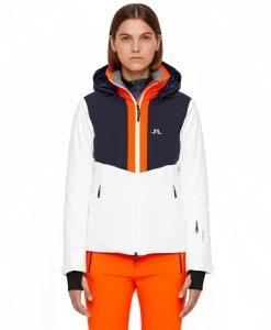 J lindeberg white gab womens ski jacket
