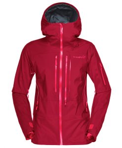Norrona Womens Gore Tex Ski Jacket Red