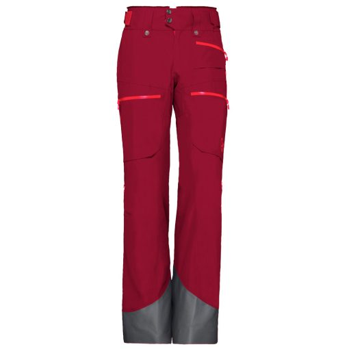 Norrona Womens Lofoten Ski Pants Red