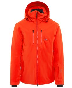 j lindeberg watson mens orange ski jacket