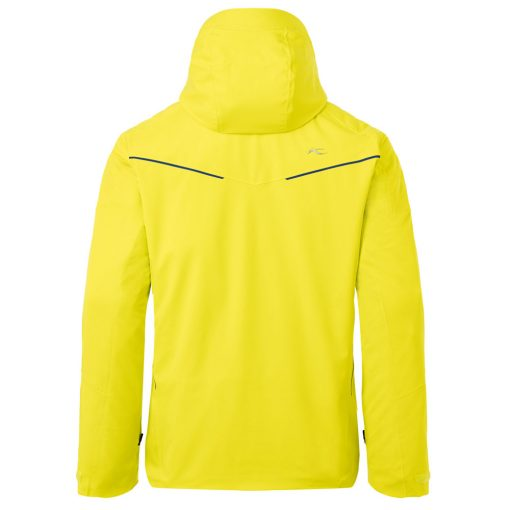 kjus formula ski jacket yellow mens