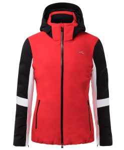 kjus formula womens red ski jacket