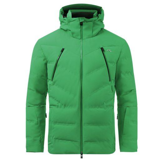 kjus mens ski jacket downforce green
