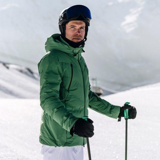kjus mens ski jacket downforce lime