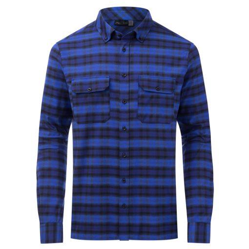 kjus skiwear macun shirt blue