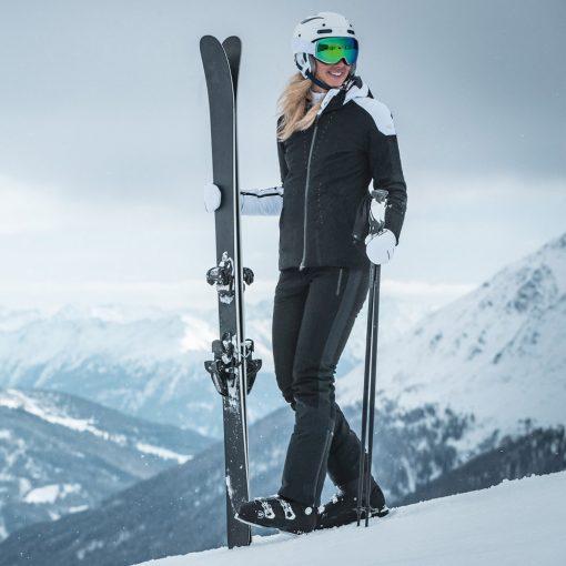 kjus womens black ski pant freelite