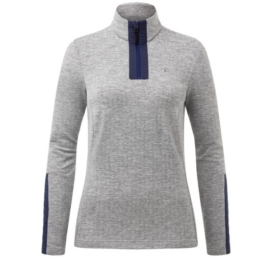 kjus womens forun half zip blue